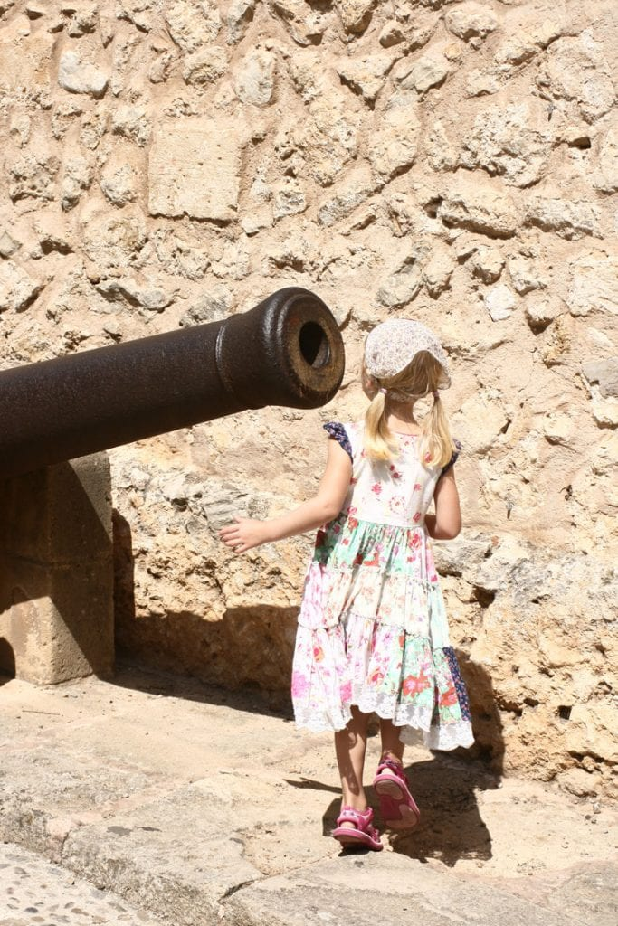 Exploring the town of Pollença on the island of Mallorca with kids