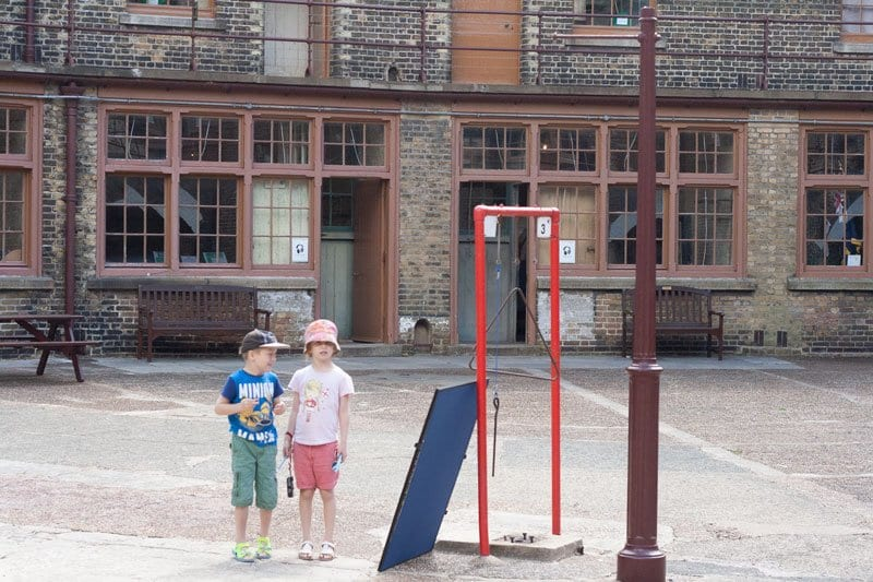 kids in landguard fort in Felixstowe this is one of the best coastal defence museums in the UK and the kids activities in summer are fantastic