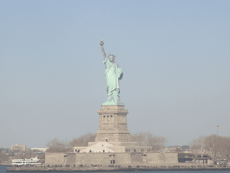Statue of Liberty as seen from the Staten Island FREE ferry