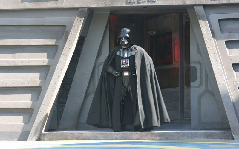 Darth Vadar at the Jedi Training Academy Walt Disney World Hollywood Studios