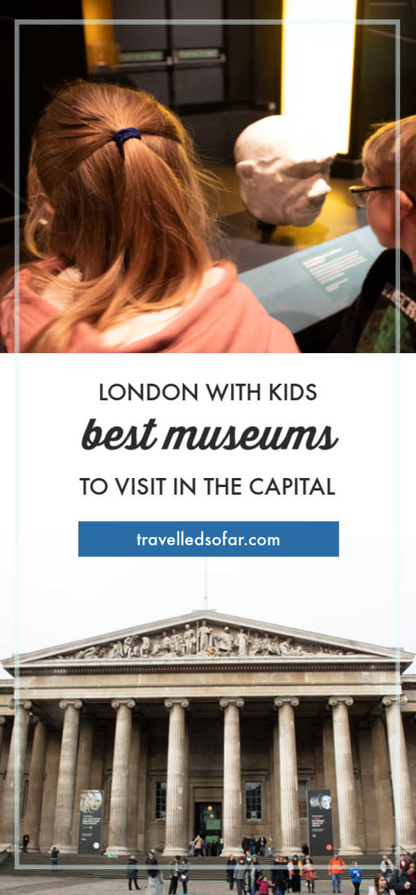 Pinnable image of Museums in London to visit with kids