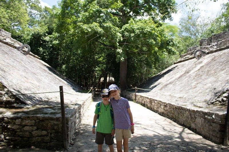 exploring Mayan Ruins wearing the Bugwatches