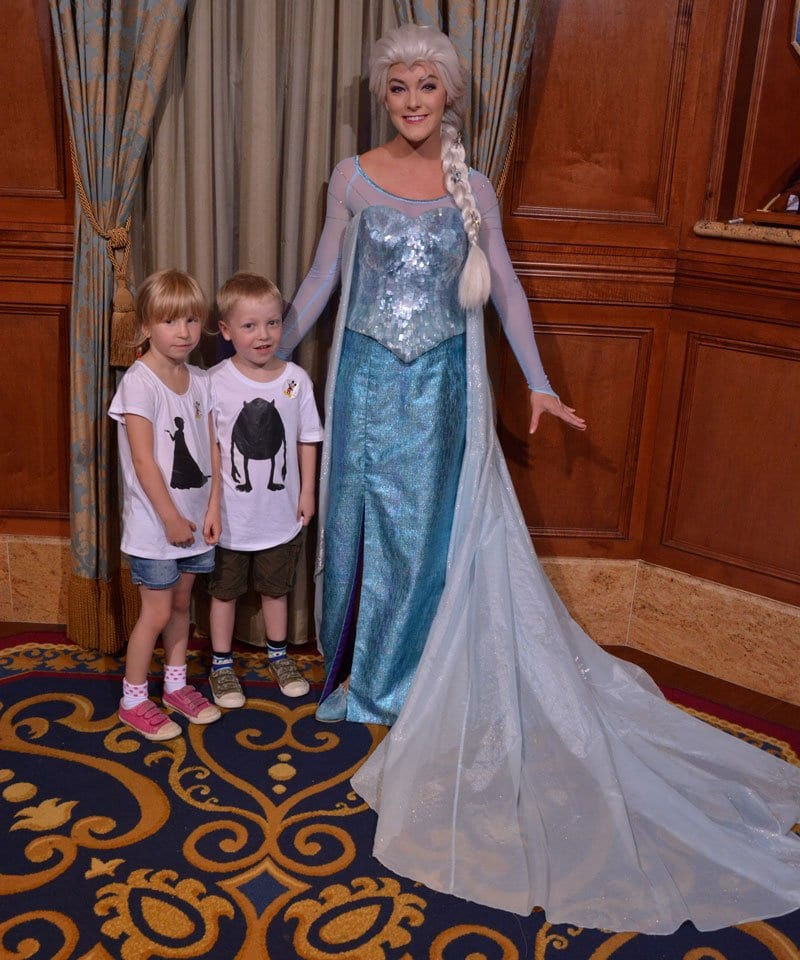 Elsa with kids at Walt Disney World discover where to find your favourite Frozen Princess
