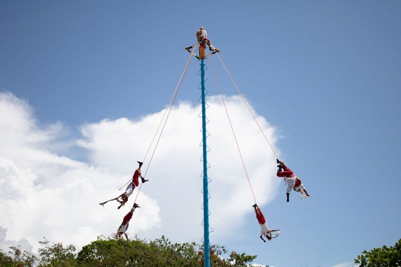 Voladores flying men at Tulum