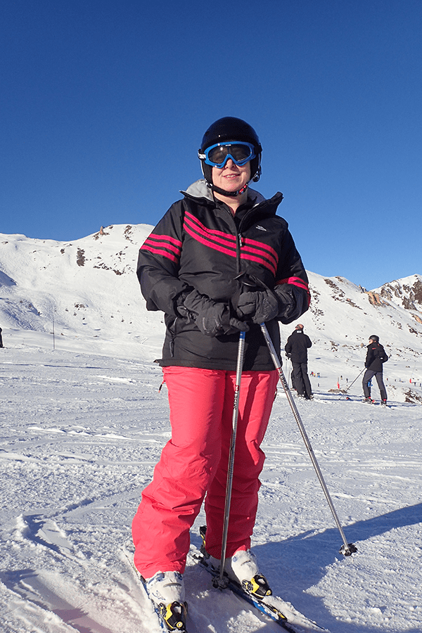 cerys parker of travelled so far skiing in the Alps