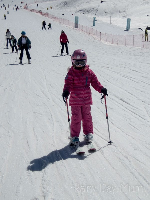 T from travelled so far skiing in the spring sunshine in val thorens aged 5