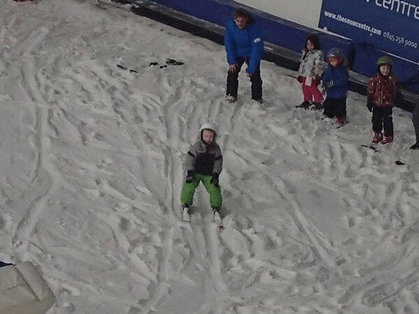 learning to ski indoors at the snow centre in hemel hempstead
